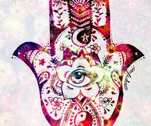 wallpaper, hamsa, and flowers image