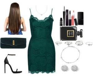 green, verde, and vestido image