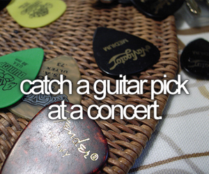 before i die, concert, and guitar pick image
