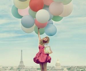 balloons, paris, and pink image