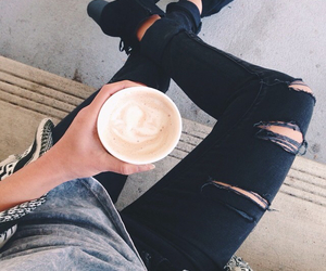 black jeans, clothes, and fashion image