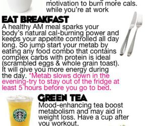 fitness, metabolism, and eat clean image