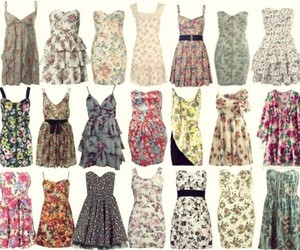 beautiful, dresses, and floral image