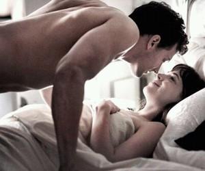 couple, kiss, and 50 shades of grey image