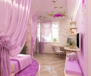 bedroom, frilly, and girly image