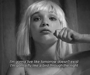 chandelier, Sia, and quote image