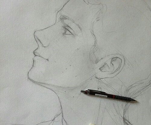 drawing, dylan o'brien, and art image