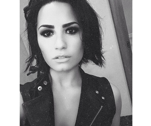demi lovato, demi, and black and white image