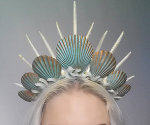 crown, mermaid, and pastel image