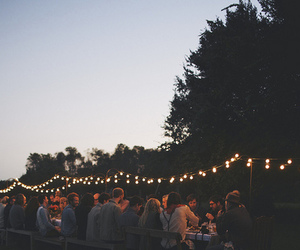 light, friends, and party image
