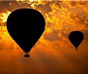 sky, sun, and balloons image