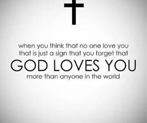 god, god loves you, and love image