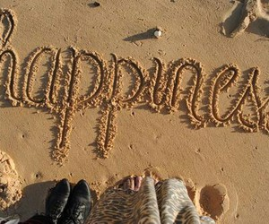 happiness, beach, and sand image