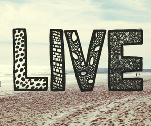 live, beach, and life image