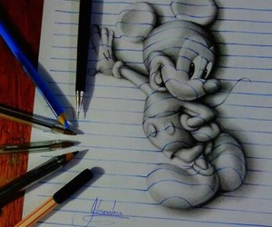 art, mickey mouse, and drawing image