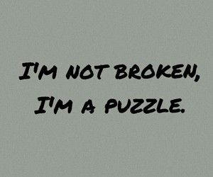 beautiful, broken, and puzzle image
