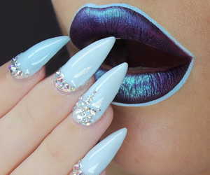 nails, lips, and blue image