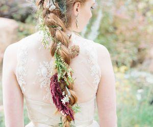 hair, wedding, and cute image