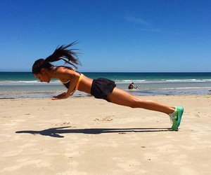 fitness, fit, and beach image