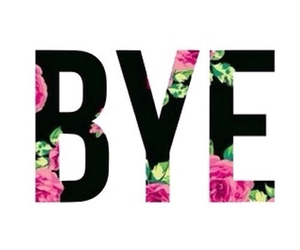 bye, flowers, and overlay image