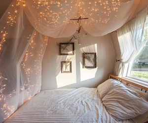bed, canopy, and chic image