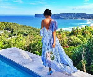 dress, lilac, and fashion image