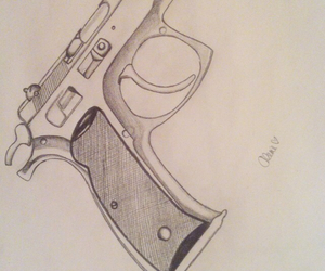 draw, drawing, and gun image