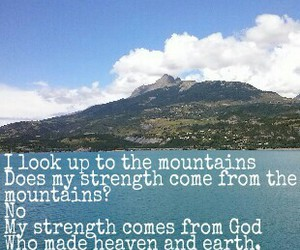god, mountains, and strength image