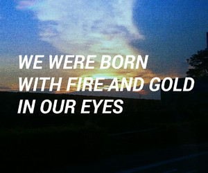 fire, gold, and grunge image