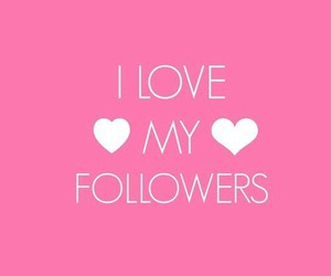 followers, love, and pink image