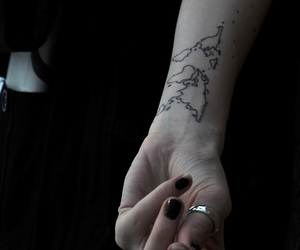hand, ink, and nails image