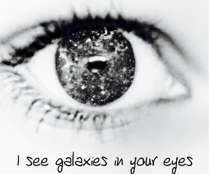 galaxy and eyes image