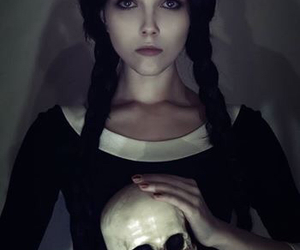 skull, black, and cosplay image