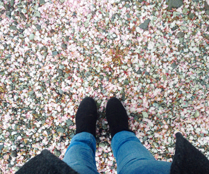 boot, cherry blossom, and H&M image
