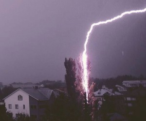 lightning, grunge, and nature image