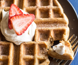 food, waffles, and sweets image