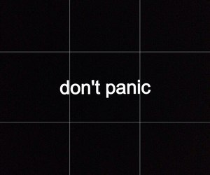 panic, black, and grunge image
