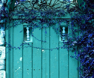 door, turquoise, and blue image