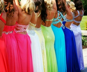 beautiful, colorful, and party dress image