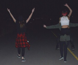 grunge, night, and friends image