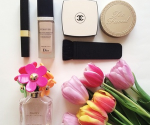 chanel, flowers, and dior image