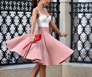 skirt, pink, and style image