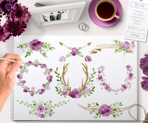 etsy, digital scrapbooking, and watercolor clipart image