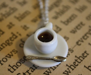 book, coffee, and necklace image
