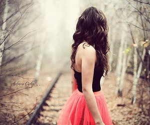 girl, dress, and pink image