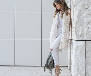 fur vest, street fashion, and street style image