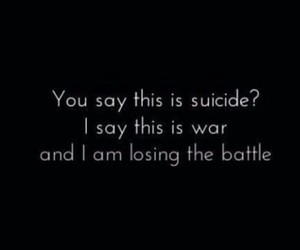 suicide, war, and bmth image