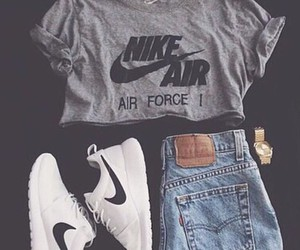 black and white, nike, and sport image