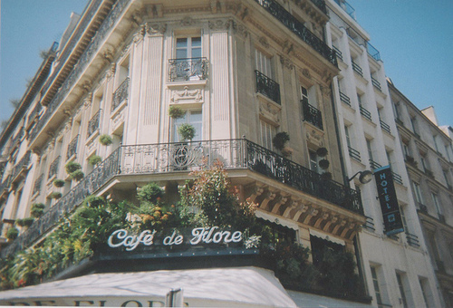 cafe, building, and france image