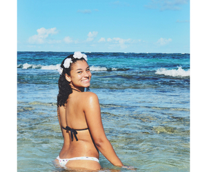beach, crown, and girl image